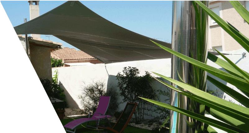 mats inox poli miroir pour voiles d'ombrage